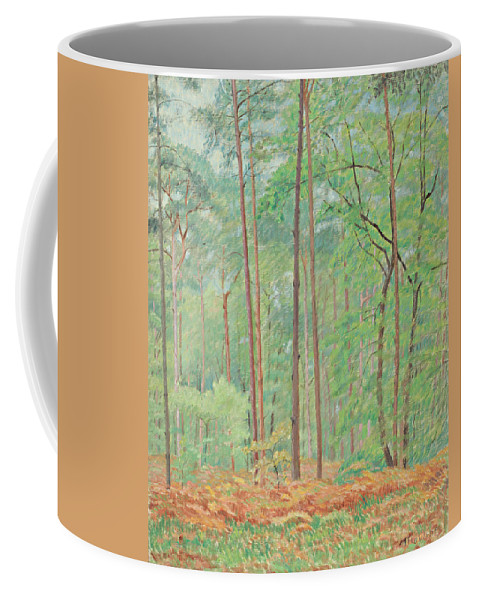 Clearing By Ernest Moulines (1870-1942) Coffee Mug featuring the digital art Clearing by Mark Carlson