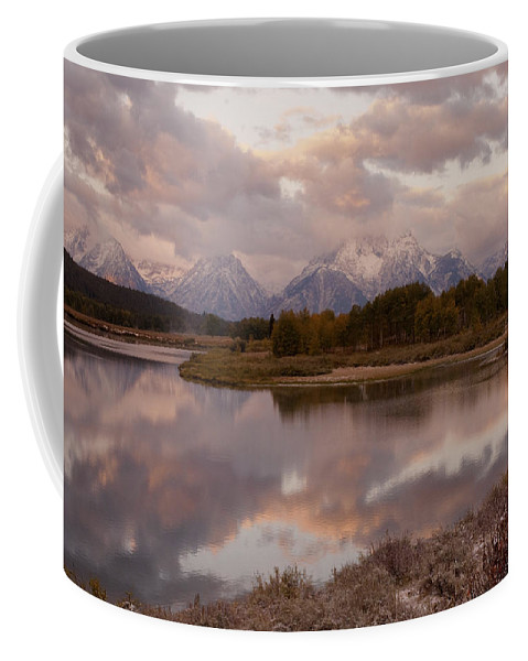 Grand Teton Coffee Mug featuring the photograph Clearing Storm At Oxbow Bend by Sandra Bronstein