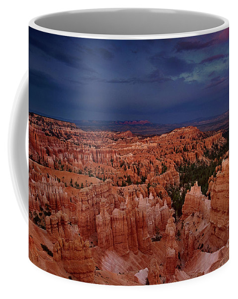 North America Coffee Mug featuring the photograph Clearing Storm Over The Hoodoos Bryce Canyon National Park by Dave Welling