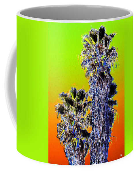 Abstract Coffee Mug featuring the digital art Clearlake Palm Trees by Will Borden