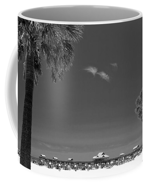 3scape Coffee Mug featuring the photograph Clearwater Beach Bw by Adam Romanowicz