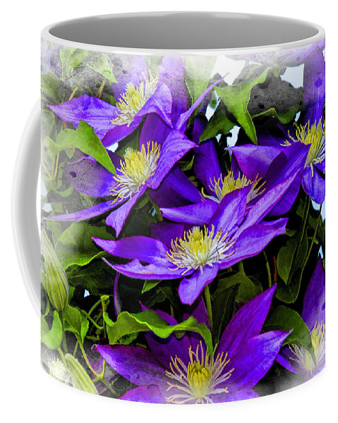 Recent Coffee Mug featuring the photograph Clematis by Geraldine Scull
