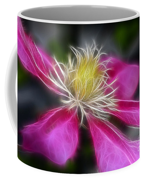 Flower Coffee Mug featuring the photograph Clematis In Pink by Deborah Benoit