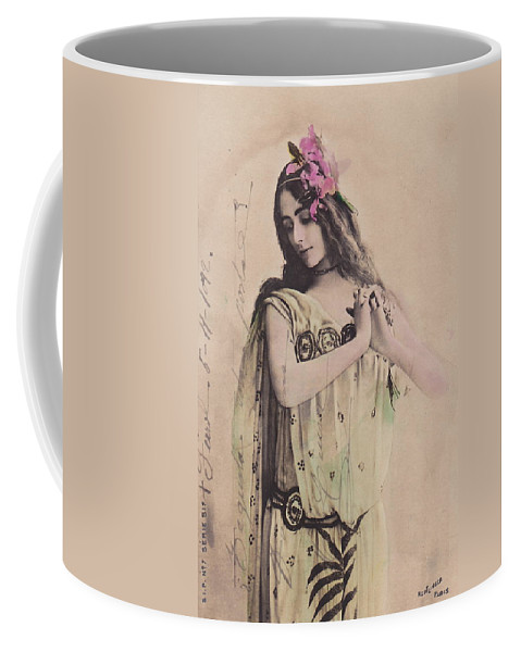 Cleo Coffee Mug featuring the photograph Cleo De Merode by Reutlingers