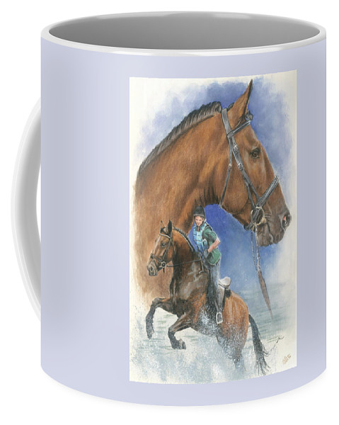 Hunter Jumper Coffee Mug featuring the mixed media Cleveland Bay by Barbara Keith