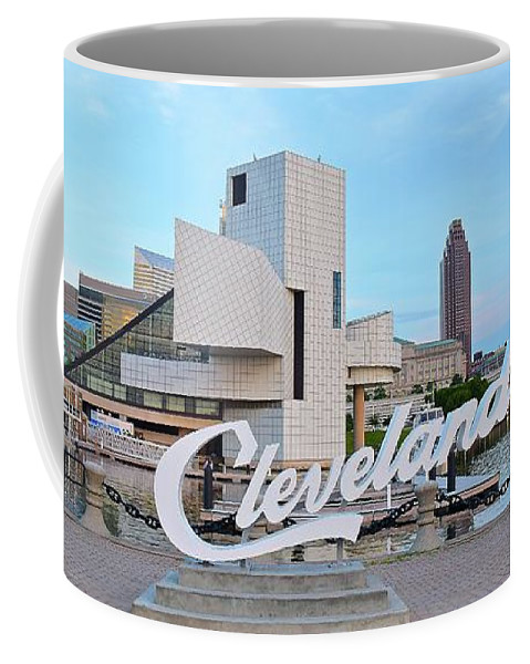 Cleveland Coffee Mug featuring the photograph Cleveland Updated View by Frozen in Time Fine Art Photography