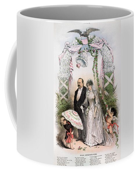 1886 Coffee Mug featuring the photograph Clevelands Wedding, 1886 by Granger