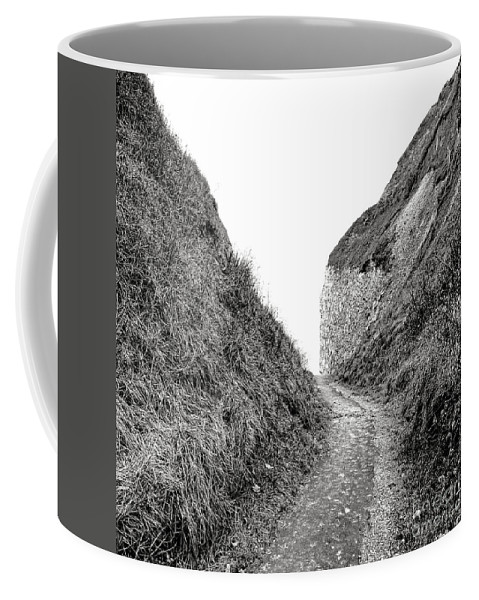 Normandy Coffee Mug featuring the photograph Cliff Cleavage by Olivier Le Queinec