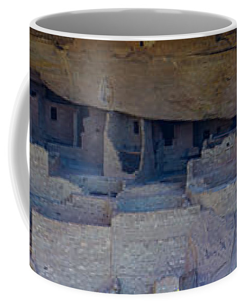 Landscape Coffee Mug featuring the photograph Cliff Dwellers Panoramic by Tikvah's Hope