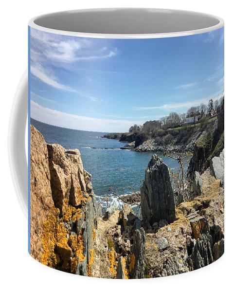 Cliff Coffee Mug featuring the photograph Cliff Walk View by Joseph Mari