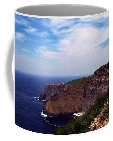 Irish Coffee Mug featuring the photograph Cliffs Of Moher Aill Na Searrach Ireland by Teresa Mucha