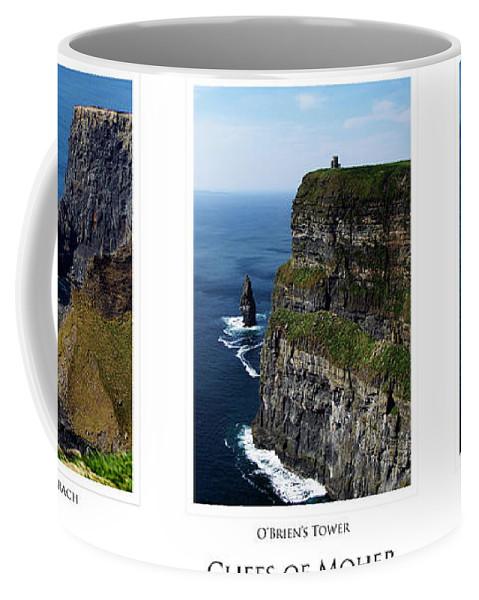 Irish Coffee Mug featuring the photograph Cliffs Of Moher Ireland Triptych by Teresa Mucha