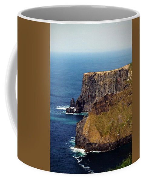 Irish Coffee Mug featuring the photograph Cliffs Of Moher Ireland View Of Aill Na Searrach by Teresa Mucha