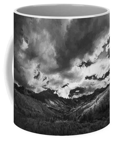 Art Coffee Mug featuring the digital art Climb The Clouds II by Jon Glaser
