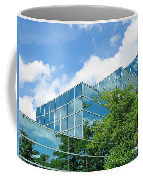 Architecture Coffee Mug featuring the photograph Climbing Skyward by Ann Horn