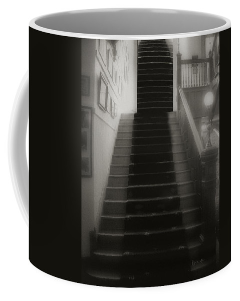 Black And White Coffee Mug featuring the photograph Climbing Toward The Unknown by RC DeWinter