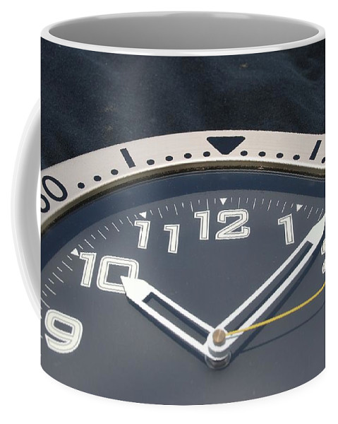 Clock Coffee Mug featuring the photograph Clock Face by Rob Hans