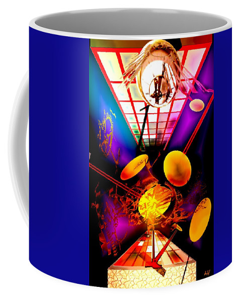 Clock Coffee Mug featuring the digital art Clock-sync by Helmut Rottler