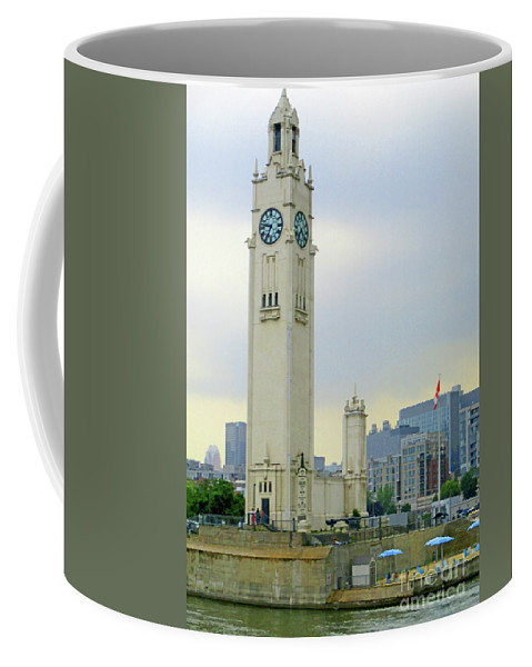 Montreal Coffee Mug featuring the photograph Clock Tower Montreal 1 by Randall Weidner