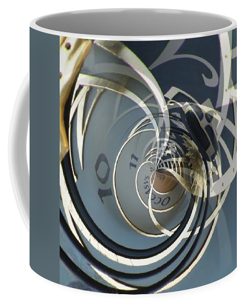 Clock Coffee Mug featuring the photograph Clockface 9 by Philip Openshaw