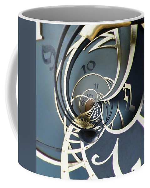 Clock Coffee Mug featuring the digital art Clockface1 by Philip Openshaw