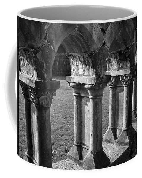 Irish Coffee Mug featuring the photograph Cloister At Cong Abbey Cong Ireland by Teresa Mucha