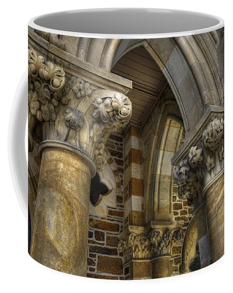 Church Coffee Mug featuring the photograph Cloisters by Wayne Sherriff