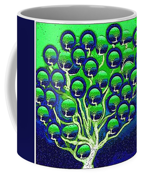 Digital Painting Coffee Mug featuring the digital art cloning of new Life by Ansgard Thomson