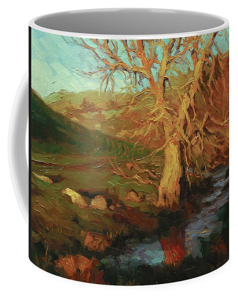 Landscape Coffee Mug featuring the painting Close Of Day by Steve Henderson
