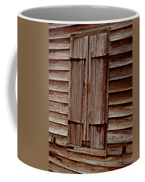 Window Coffee Mug featuring the photograph Closed In Sepia by Bob Johnson
