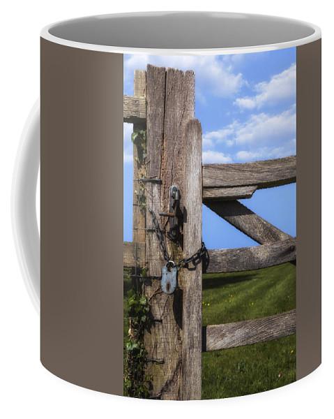 Gate Coffee Mug featuring the photograph Closed Paddock by Joana Kruse