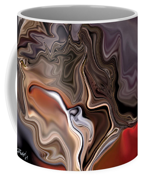 Abstract Coffee Mug featuring the digital art Closer by Rabi Khan