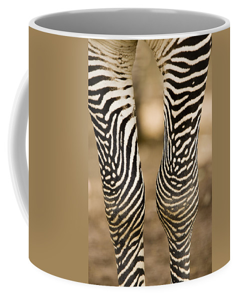 Captive Animals Coffee Mug featuring the photograph Closeup Of A Grevys Zebras Legs Equus by Tim Laman