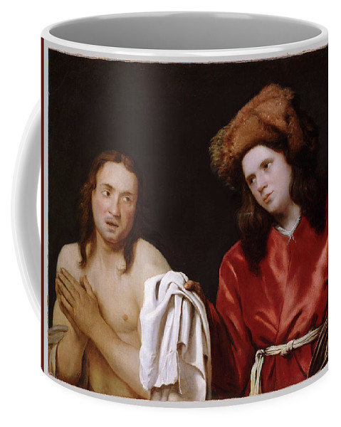 Clothing The Naked Coffee Mug featuring the digital art Clothing The Naked by Mark Carlson