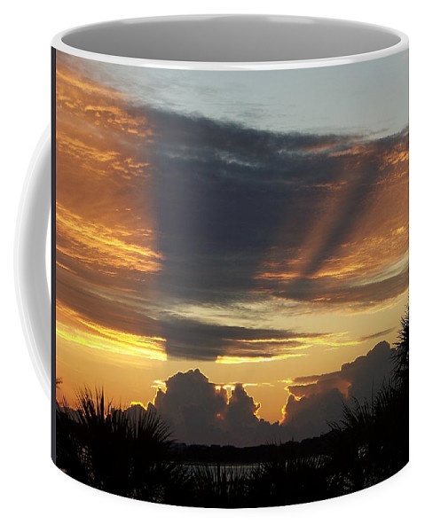 Sunsets Coffee Mug featuring the photograph Cloud Cast Glory by Karen Wiles