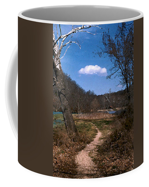 Landscape Coffee Mug featuring the photograph Cloud Destination by Steve Karol