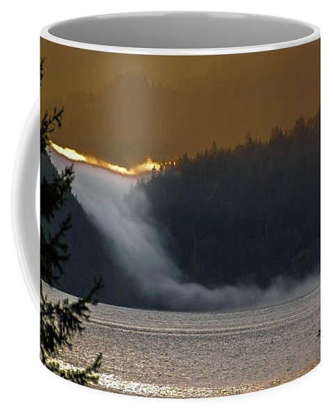 Cloud Coffee Mug featuring the photograph Cloud Fall On Crescent Lake by NaturesPix