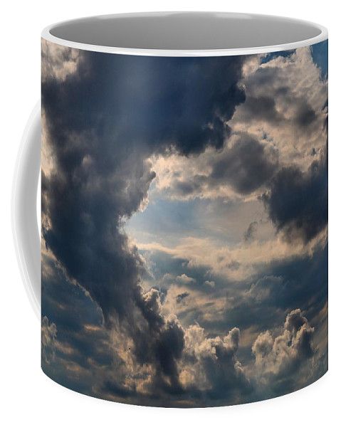 Clouds Coffee Mug featuring the photograph Cloud Formations Boiling Up by Kathryn Meyer