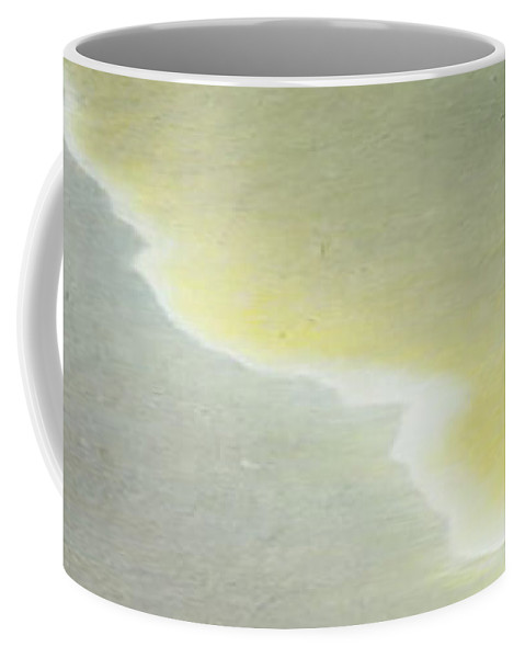 Abstract Coffee Mug featuring the painting Cloud by Janet Lipp