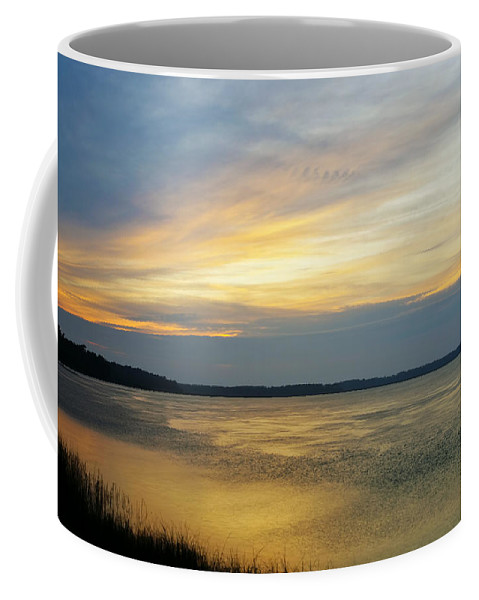 Blue Coffee Mug featuring the photograph Cloud Letters by Phill Doherty