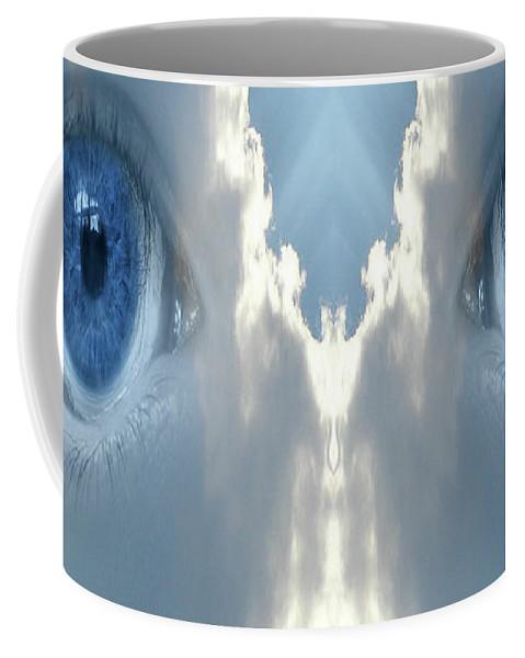 Cloud Coffee Mug featuring the digital art Cloud Mask by Neil Finnemore