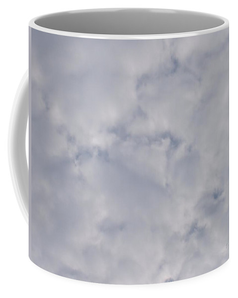 Clouds Coffee Mug featuring the photograph Cloud Mass - Fist Holding Arrowhead - Look Closely by Deborah Crew-Johnson