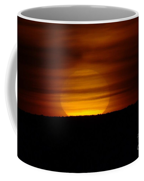 Sun Coffee Mug featuring the photograph Cloud Misted Sunrise by Jeff Swan