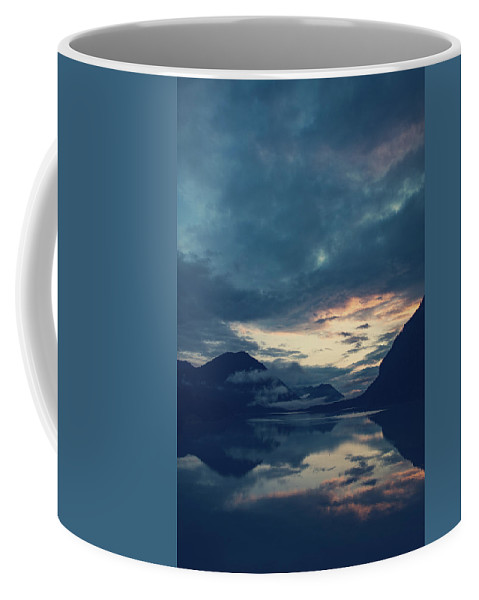 Cloud Coffee Mug featuring the photograph Cloud Mountain Reflection by Franz Sussbauer