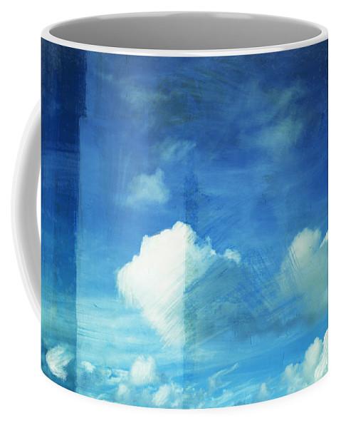 Abstract Coffee Mug featuring the painting Cloud Painting by Setsiri Silapasuwanchai