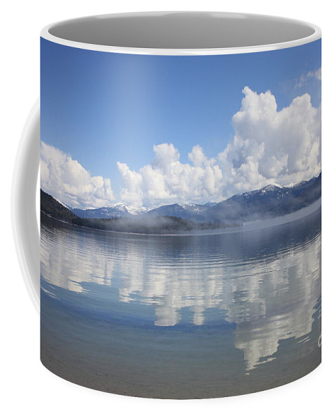 Clouds Coffee Mug featuring the photograph Cloud Reflection On Priest Lake by Carol Groenen