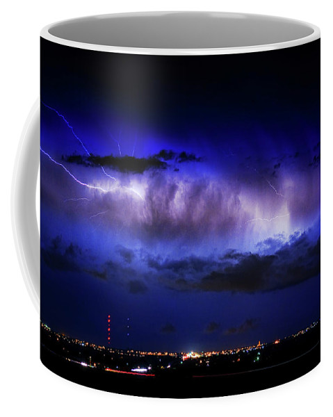 Bouldercounty Coffee Mug featuring the photograph Cloud To Cloud Lightning Boulder County Colorado by James BO Insogna