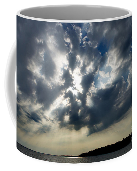 Scenic Tours Coffee Mug featuring the photograph Cloudburst by Skip Willits