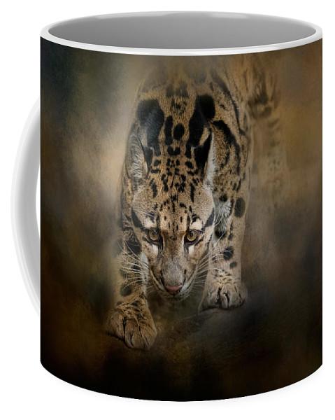 Jai Johnson Coffee Mug featuring the photograph Clouded Leopard On The Hunt by Jai Johnson