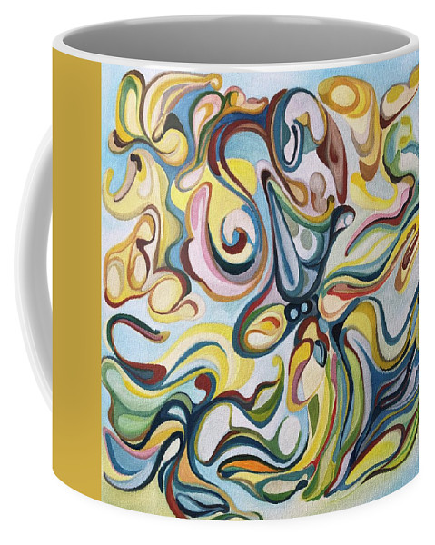 Love Coffee Mug featuring the painting Clouds by Antonio Martinez Paramo